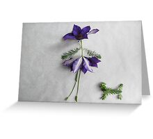 Happy Clematis girl with her dog Greeting Card