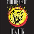 Heart Of A  Lion Poster and iPhone Case by Zach Walters