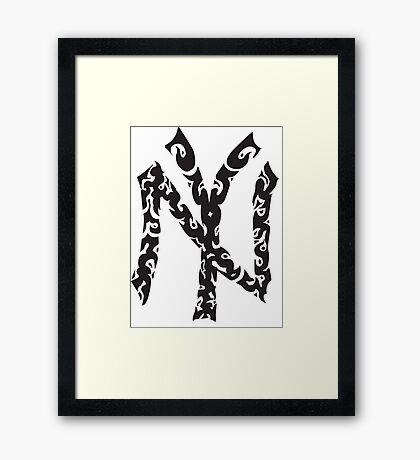 Tribal Yankees Framed Print