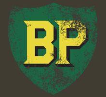 Vintage British Petroleum emblem by Robin Lund