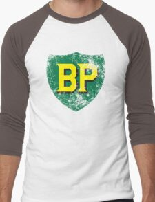 Vintage British Petroleum emblem Men's Baseball ¾ T-Shirt