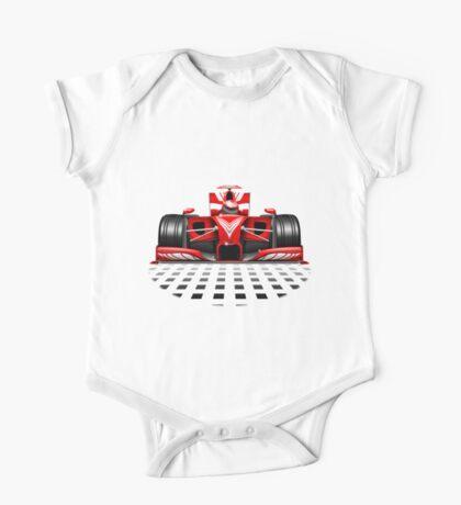 Formula 1 Red Race Car One Piece - Short Sleeve