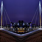 Foot Bridge over the Central Motorway by Harry Purves
