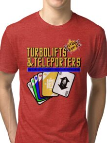 Turbolifts and Teleporters Tri-blend T-Shirt