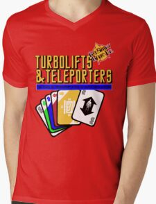 Turbolifts and Teleporters Mens V-Neck T-Shirt