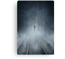 Lonely Figure Canvas Print