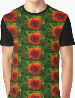 Red Poppy - Vibrant, Bold and Cheerful Graphic T-Shirt
