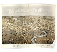 Panoramic Maps Watertown Jefferson Co Wisconsin 1867 Poster