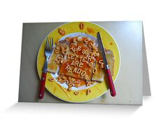 Big Breakfast by Luciano Pelosi Greeting Card