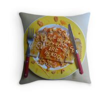 Big Breakfast by Luciano Pelosi Throw Pillow