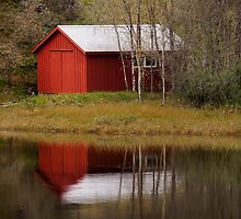 red house reflection by Benjamin Sant