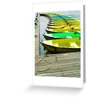 Beijing Boats Greeting Card