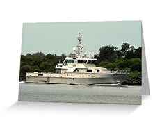Police Patrol Boat Greeting Card