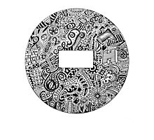 Doodle Tattoo Name Plate Photographic Print