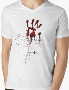 Zombie Attack Bloodprint - Halloween Mens V-Neck T-Shirt