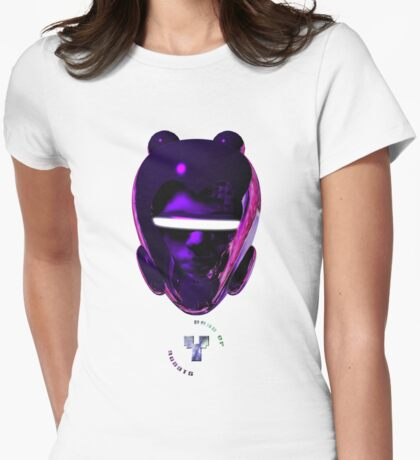 Fembot  just her head Womens Fitted T-Shirt