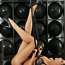 Playboy model making classic rabbit pose legs up by Anton Oparin