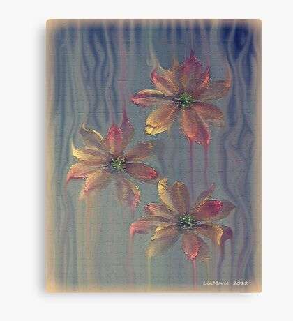 Painterly Petals... Canvas Print