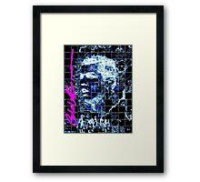 Blue Ronaldo Framed Print