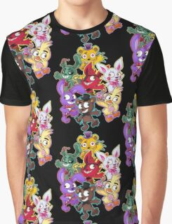 Five Nights at Freddys 1-4 Chibi Graphic T-Shirt