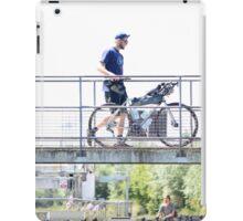 Cyclist Crossing Bridge iPad Case/Skin