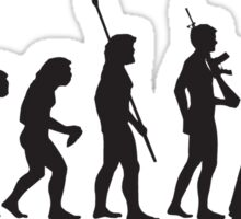 Human evolution Star wars Sticker