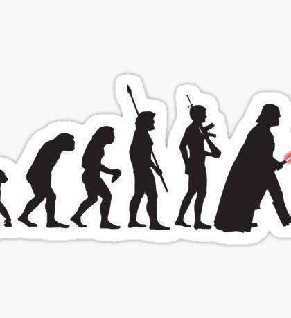 Human evolution Star wars Sticker