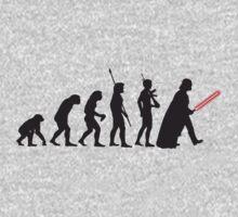 Human evolution Star wars One Piece - Long Sleeve