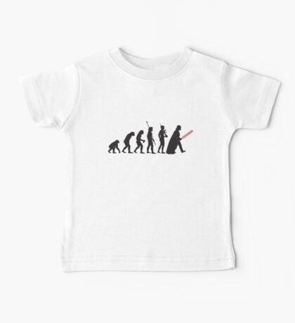 Human evolution Star wars Baby Tee
