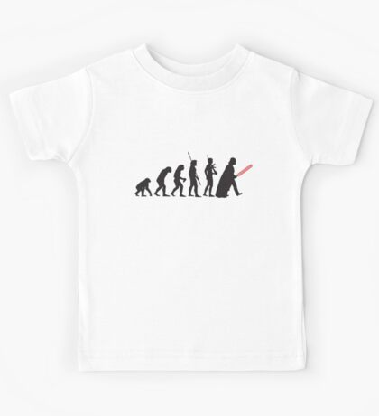 Human evolution Star wars Kids Tee