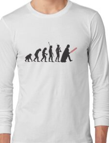 Human evolution Star wars Long Sleeve T-Shirt