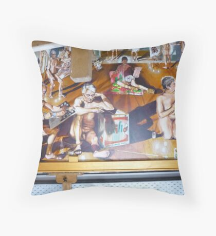 The School of Postmodernism Detail 5 by Vittorio Pelosi Throw Pillow