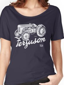 Classic Ferguson TE20 script and illustration Women's Relaxed Fit T-Shirt