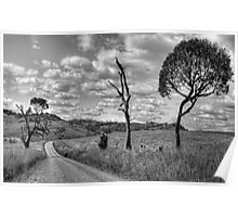 Take me Home Country Roads - Somewhere Near Oberon (Monochrome) - The HDR Experience Poster