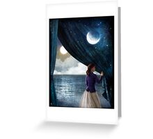 Night with a view Greeting Card