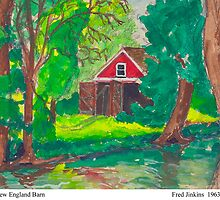 New England Barn by Fred Jinkins