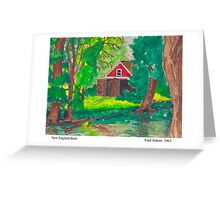 New England Barn Greeting Card