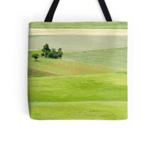 Rolling green hills with trees Photographed in Umbria, Italy Tote Bag