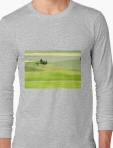 Rolling green hills with trees Photographed in Umbria, Italy Long Sleeve T-Shirt