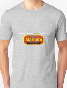 I Survived the Great NZ Marmite Famine of 2012  Unisex T-Shirt