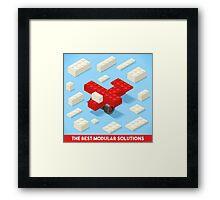Toy Block Plane Games Isometric Framed Print