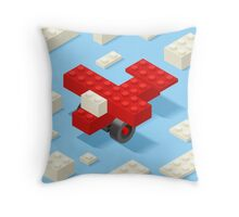 Toy Block Plane Games Isometric Throw Pillow