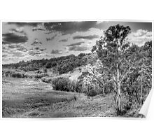 Landscape aStudy in Black & White - Oberon Way, NSW - The HDR Experience Poster