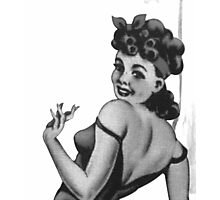Vintage Pin Up Gal Photographic Print