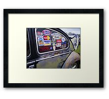 stickers Framed Print