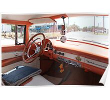Dashboard of a 1956 Ford Crown Victoria Poster
