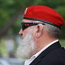 Red Beret on ANZAC Day by aussiebushstick
