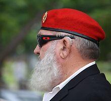 Red Beret on ANZAC Day by aussiebushstick
