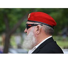 Red Beret on ANZAC Day Photographic Print