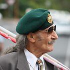 Green Beret on ANZAC Day by aussiebushstick